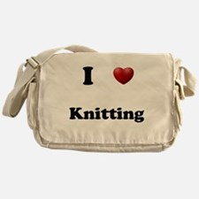 Knitting Messenger Bag