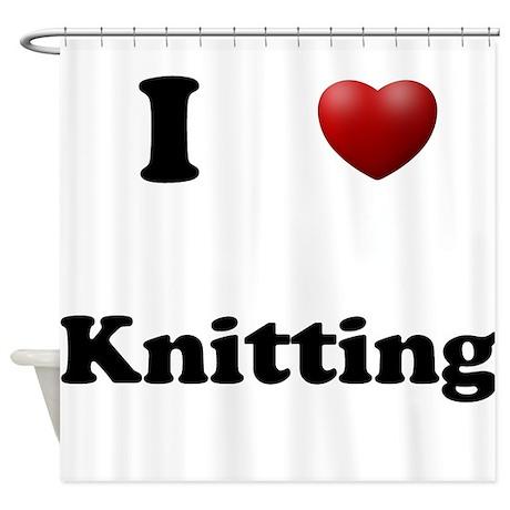 Knitting Shower Curtain