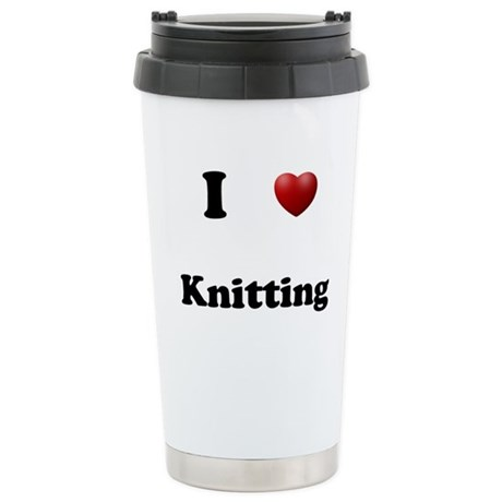 Knitting Stainless Steel Travel Mug
