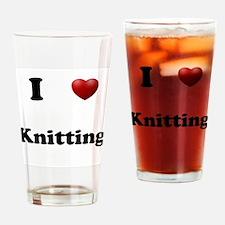 Knitting Drinking Glass