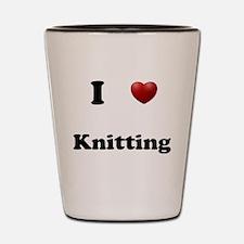 Knitting Shot Glass