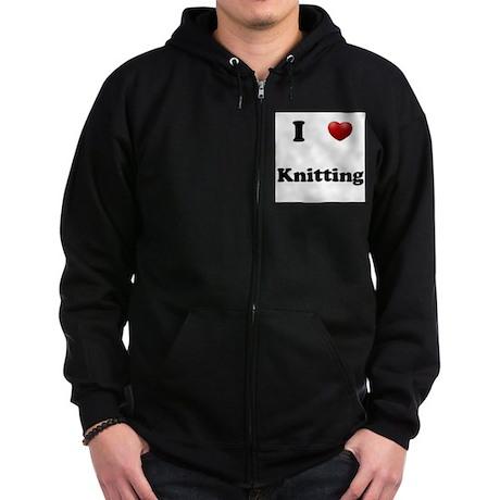 Knitting Zip Hoodie (dark)