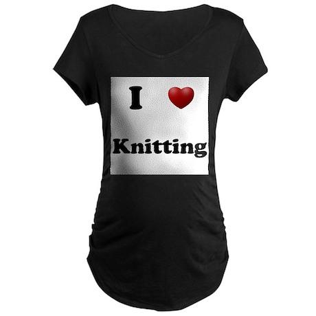 Knitting Maternity Dark T-Shirt