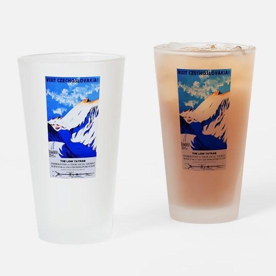 Czechoslovakia Travel Poster 2 Drinking Glass