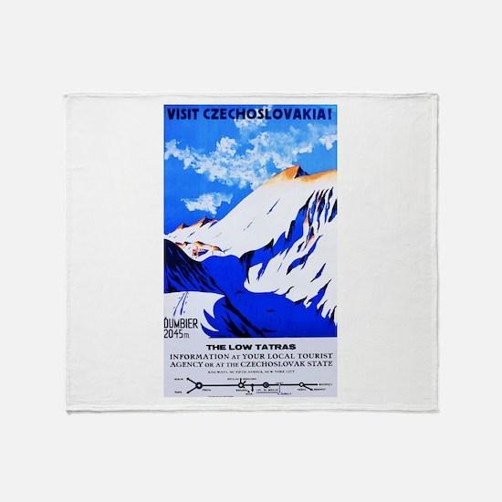 Czechoslovakia Travel Poster 2 Throw Blanket
