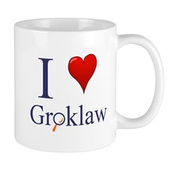 I love Groklaw Mug right handed