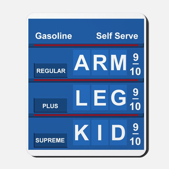 GAS PRICES Mousepad