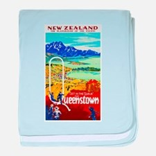 New Zealand Travel Poster 6 baby blanket