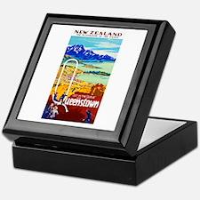 New Zealand Travel Poster 6 Keepsake Box
