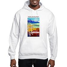 New Zealand Travel Poster 6 Hoodie Sweatshirt