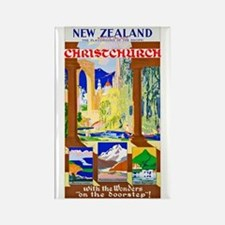 New Zealand Travel Poster 1 Rectangle Magnet