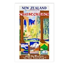 New Zealand Travel Poster 1 Postcards (Package of