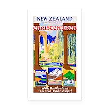 New Zealand Travel Poster 1 Rectangle Car Magnet