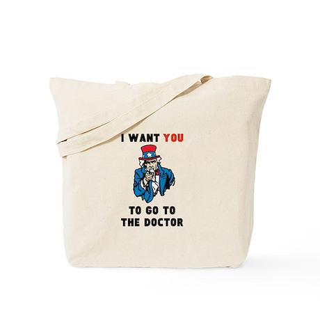 Obamacare: Uncle Sam Tote Bag