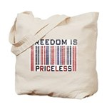 Freedom is Priceless America Tote Bag