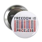 Freedom is Priceless America Button