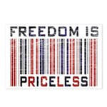 Freedom is Priceless America Postcards (Package of