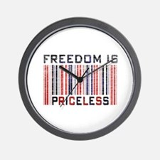 Freedom is Priceless America Wall Clock
