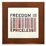 Freedom is Priceless America Framed Tile