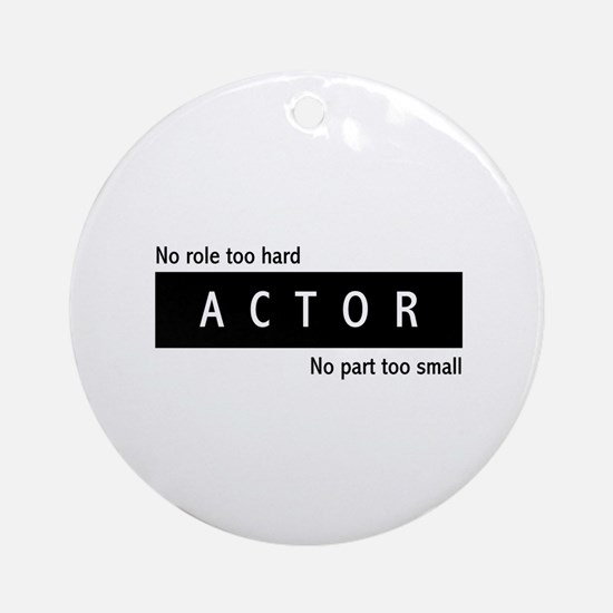 Actor Ornament (Round)