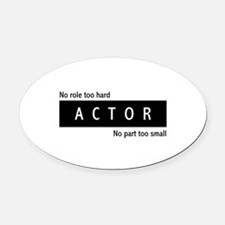 Actor Oval Car Magnet