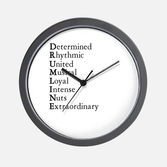 Drumline Definition Marching Band Wall Clock