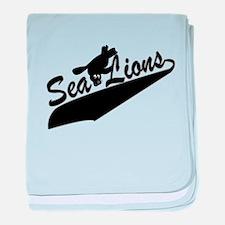 Sea Lions Baseball baby blanket
