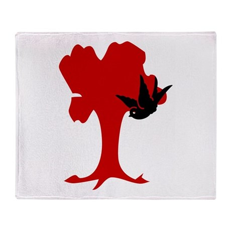 Tree of Love Throw Blanket