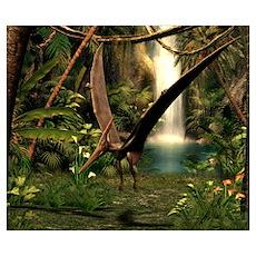 Pteranodon pterosaur, artwork Poster