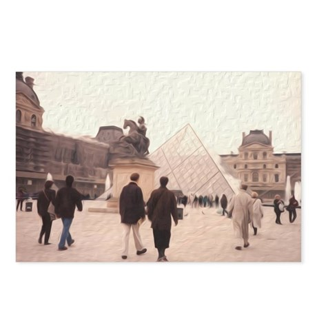 La Pyramide du Louvre Postcards (Package of 8)