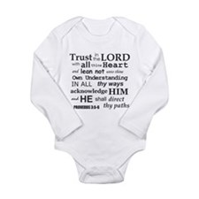 Proverbs 3:5-6 KJV Dark Gray Print Long Sleeve Inf