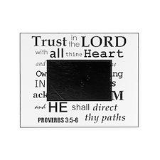 Proverbs 3:5-6 KJV Dark Gray Print Picture Frame