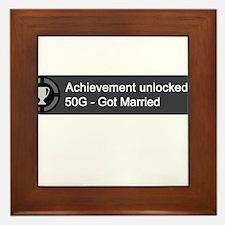 Got Married (Achievement) Framed Tile