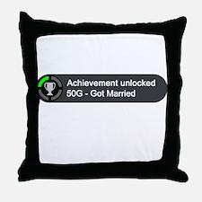 Got Married (Achievement) Throw Pillow