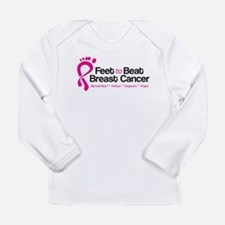 Feet to Beat Breast Cancer Long Sleeve Infant T-