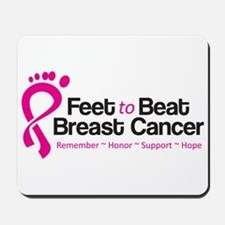 Feet to Beat Breast Cancer Mouse Pad