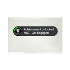 Got Engaged (Achievement) Rectangle Magnet