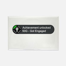 Got Engaged (Achievement) Rectangle Magnet