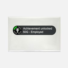 Employed (Achievement) Rectangle Magnet