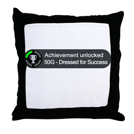 Dressed for Success (Achievement) Throw Pillow