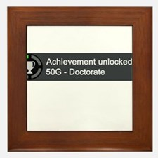 Doctorate (Achievement) Framed Tile