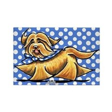 Havanese Blue Polka Rectangle Magnet