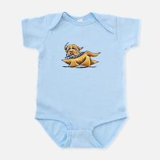 Havanese Blue Polka Infant Bodysuit
