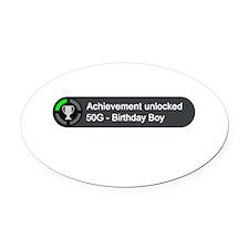 Birthday Boy (Achievement) Oval Car Magnet