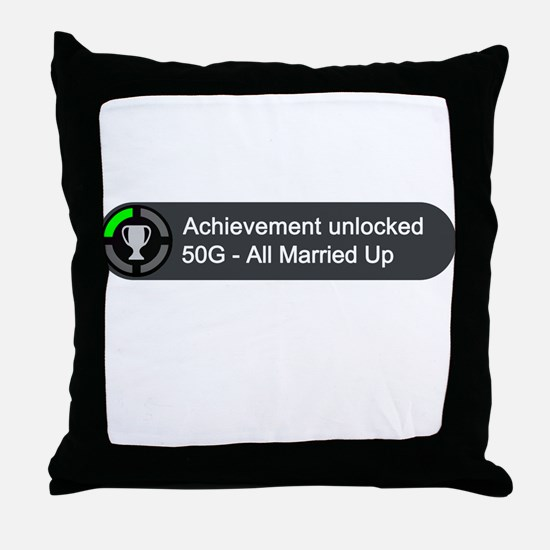 All Married Up (Achievement) Throw Pillow