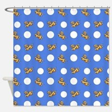 Havanese Blue Polka Shower Curtain