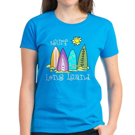 I Surf Long Island Women's Dark T-Shirt