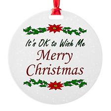"""Merry Christmas!"" Ornament"