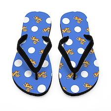 Havanese Blue Polka Flip Flops