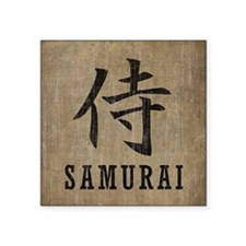"Vintage Samurai Square Sticker 3"" x 3"""